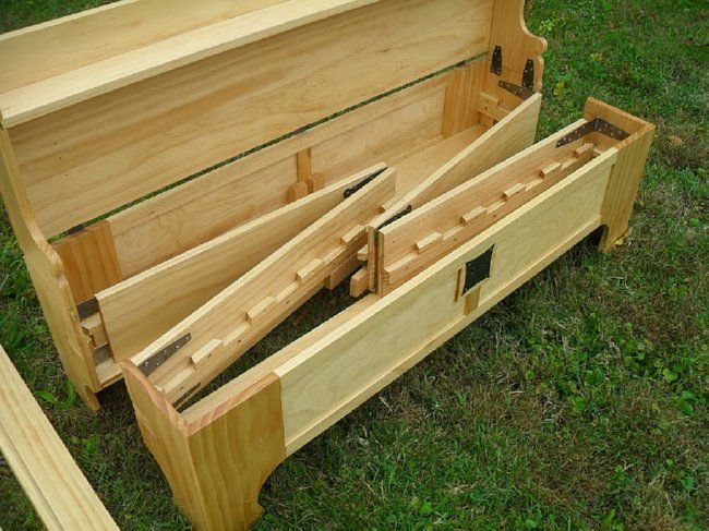 Looks Like A Hope Chest But Is Actually A Brilliant Bed-In-A-Box   DIY Cozy Home