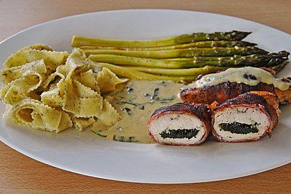 Gefüllte Bärlauch-Hähnchen-Rouladen (Rezept mit Bild)   Chefkoch.de