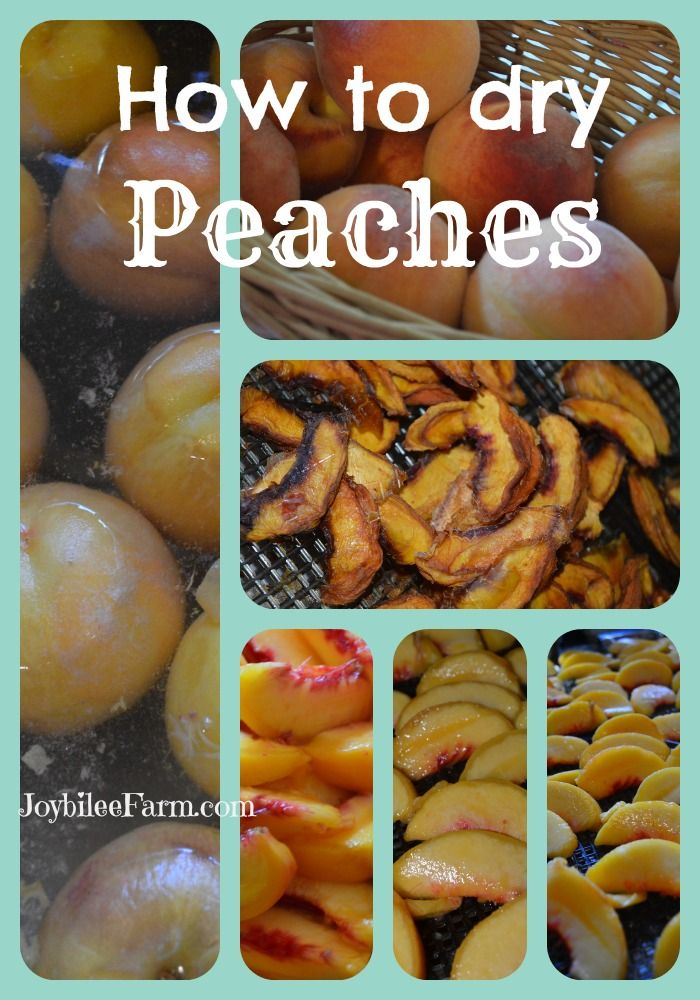 How to dry peaches - Joybilee Farm
