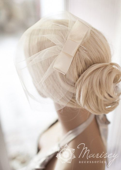 Double layer birdcage illusion tulle veil by MariseyAccessories, $22.00 @Pamela Mitchell what do you think?