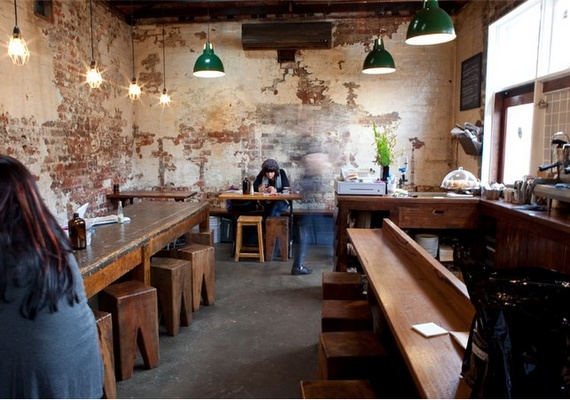 Monk Bodhi Dharma , 202 Carlisle St, Balaclava VIC 3183 Australia...love this idea for a bar/café, The lighting, the benches and stools are perfect.