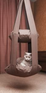 ben je wat handig dan kan je je lieve kat verwennen met zo een bedje
