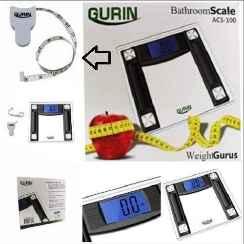 High Accuracy Digital Body Weight Scale large font LCD Electronic+body tape FREE #Gurin