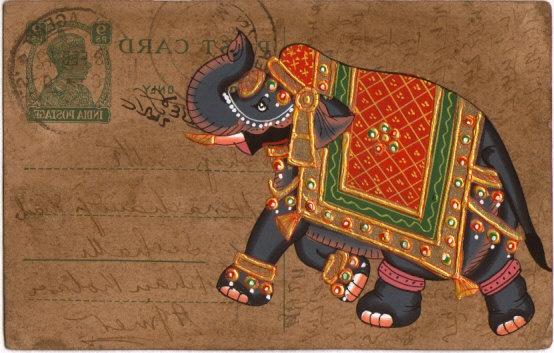 Mughal colorful elephant