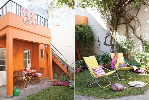 Un patio antiguo con mucho color | ESPACIO LIVING