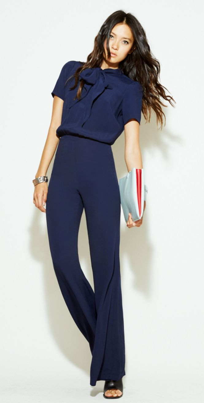 17 Best ideas about Navy Jumpsuit on Pinterest | Long romper ...