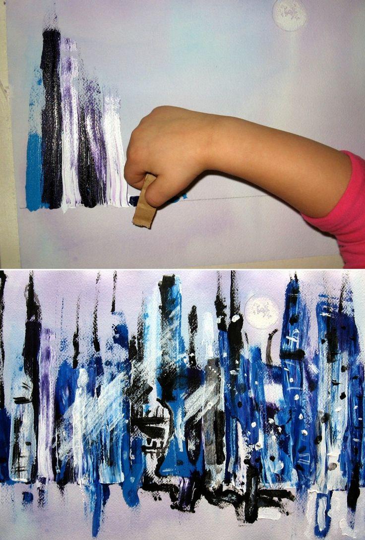 Kreative Zeichentechniken zum Malen mit Kindern – 28 originelle Ideen #motive …