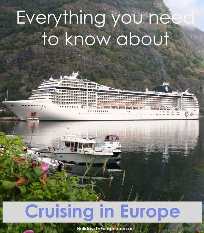 Cruising holidays in Europe are mega-popular and this article covers everything you need to know. River cruising or ocean cruising? // Click on the image to read my guide on everything you need to know about cruising in Europe.
