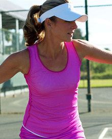 SALE JoFit Ladies & Plus Size Net Worth Tennis Tank Tops - Lanai (Jo Pink)