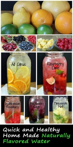 Naturally Flavored Water - I need to learn how to make this!