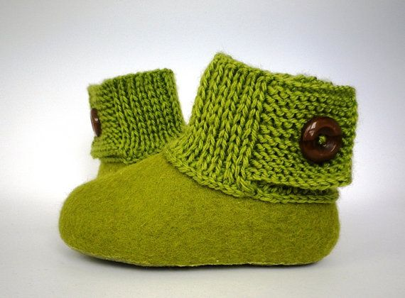 Baby booties / kids slippers / house shoes  Felted от AgileWool