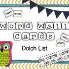 These fun chevron word wall cards were created using the Dolch word list.  There are over 200 words from pre-primer to 3rd grade words. There are f...