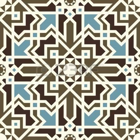 mavi ve Kahverengi Koyu fotoğrafta Arabesk desen inconstil