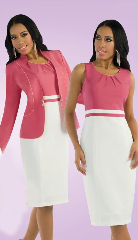 This 2 Pc Two Tone Suit Where It As A Suit Or A Dress.                                sprightenterprise.com