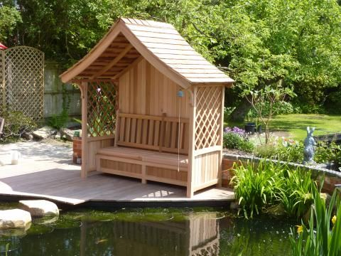 garden structure ideas | Garden Ideas - Victorian Garden Arbours - Covered Garden Seats ...