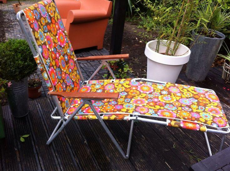VINTAGE RETRO SUN LOUNGER DECKCHAIR GARDEN RECLINER CHAIR VW CAMPER 60s & Best 25+ Garden recliner chairs ideas on Pinterest | Garden ... islam-shia.org
