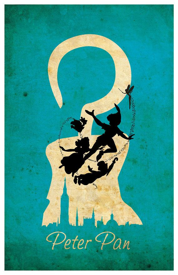 Peter Pan Art Print / Poster by MINIMALISTPRINTS on Etsy