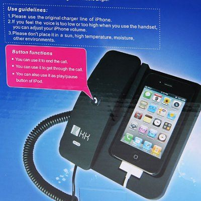 KK-02 Handset Dock Stand with Hands Free for iPhone 4 , 4S , 3G / 3GS , iPhone 5 ( Pink ) Only $22.48   Everbuying Mobile