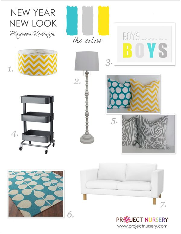 This board is all about patterns. #designboard #playroom