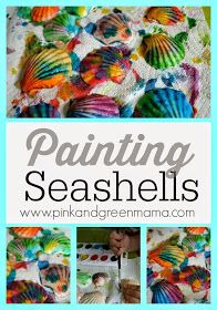 Pink and Green Mama: Kid's Craft: Painted Sea Shells