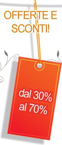 Sconti abbigliamento! Sono arrivate le offerte. Sconti dal 30% fino al 70%.
