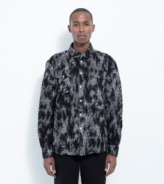 TOM WESTERN SHIRT WITH POCKETS · BLACK / WHITE