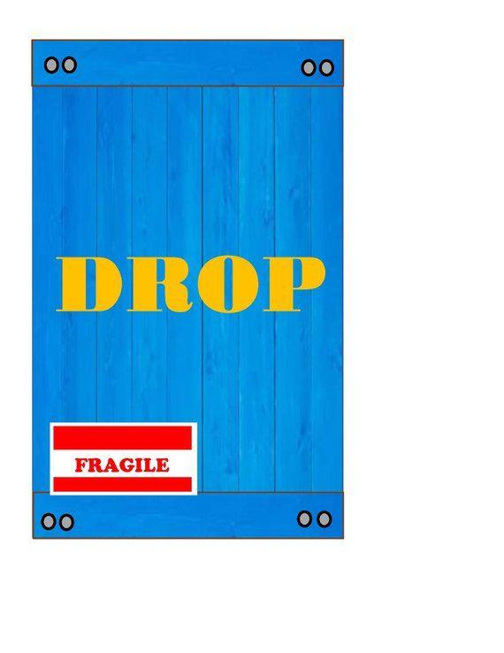 Fortnite Drop Box Favor Bag Labels Tags Instant Download