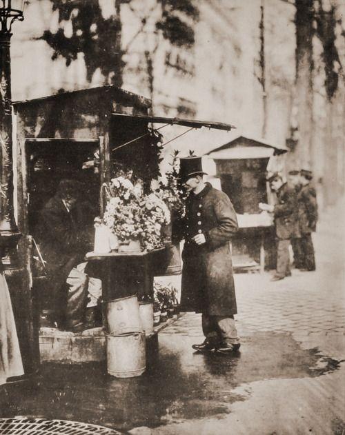 Flower stand, Paris, 1900s