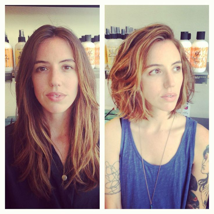 Before And After Long Layers To A Blunt Bob By Edo Salon
