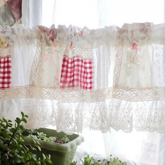 Share this page with others and get 10% off! Vintage Rose Lace Quilt Valance