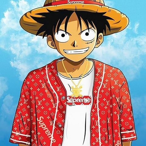 One Piece Hypebeast Wallpaper Google Search Gangsta Anime Black Anime Characters Trill Cartoon