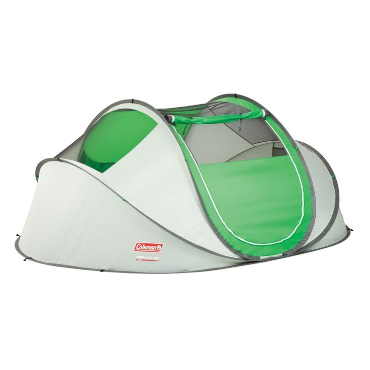 Stay dry and spend more time doing activities in the Great Outdoors with this Coleman four person pop-up tent. Offering UV protection, this tent folds flat for easy storage and comes with a pre-assembled frame for easy setup and folding.