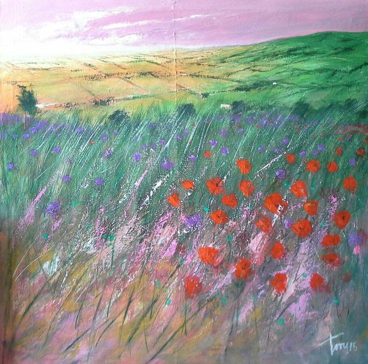 Fields   100x100 acrilico su tela  Luigi Torre painter 2015