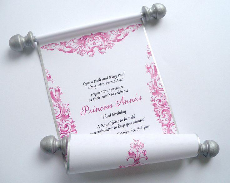26 best Invitation Birthday images on Pinterest Scroll invitation