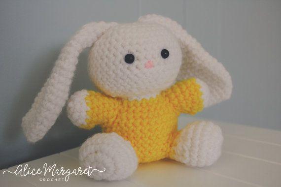 Easter Bunny  Crochet Rabbit  Amigurumi  by AliceMargaretCrochet