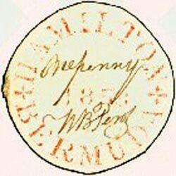 Bermudas, Perot Provisional stamp (1848)