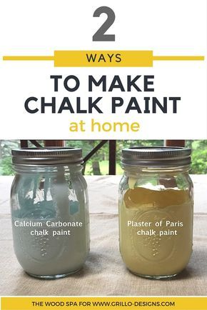 2 Ways To Make Homemade Chalk Paint • Grillo Designs
