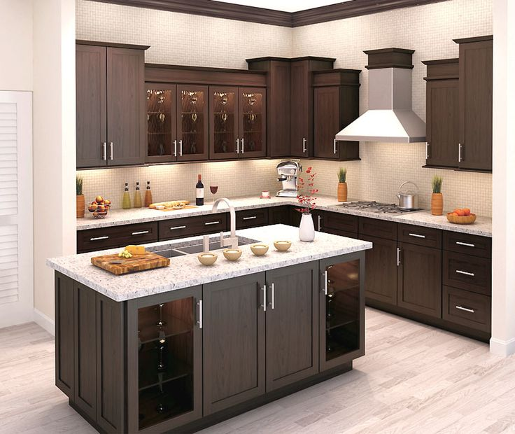 Elegant L Shaped Solid Wood Kitchen Cabinets Latest: Tahoe Kitchen Cabinets