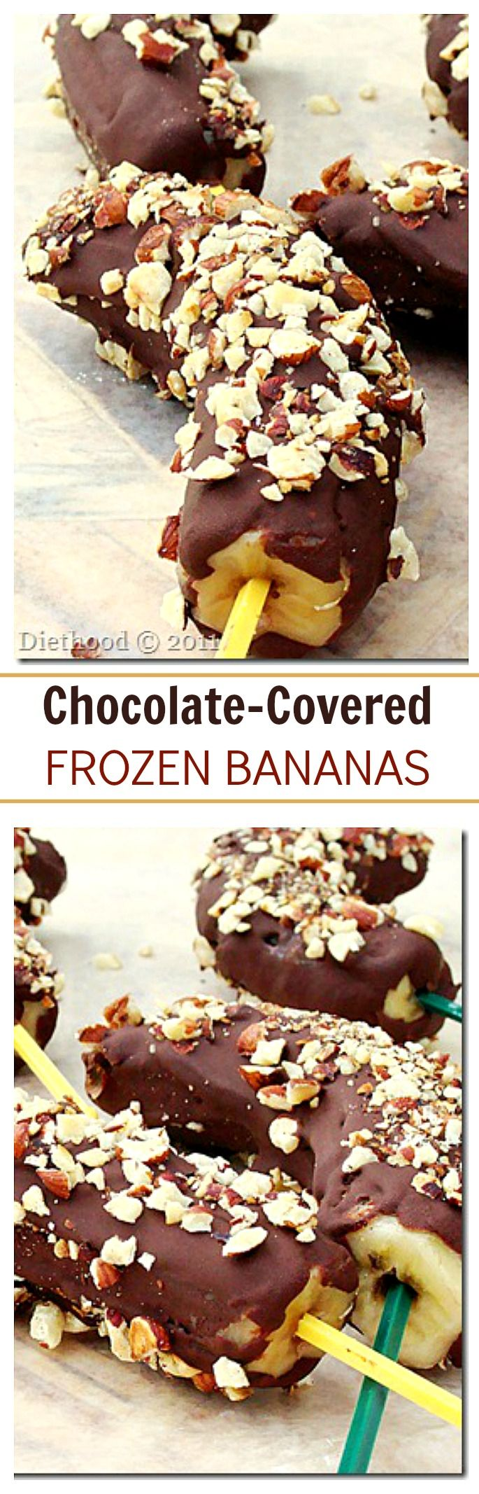 HOW TO MAKE Chocolate-Dipped Frozen Bananas! SO simple and delicious!