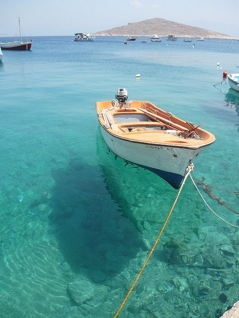 isola di chalki, Greece. A must in my life.Clear Water, Blue, Wooden Boats, Honeymoons Places, Sea, Summer, Travel, Sailing Away, Honeymoons Destinations