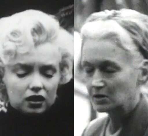 Side by side screenshots from the documentary ( The Legend of Marilyn Monroe, 1966) I just watched, of Marilyn Monroe & her Mother , Gladys Baker ( a couple years after Marilyn Monroe's death). You can defiantly see where she got her beauty.