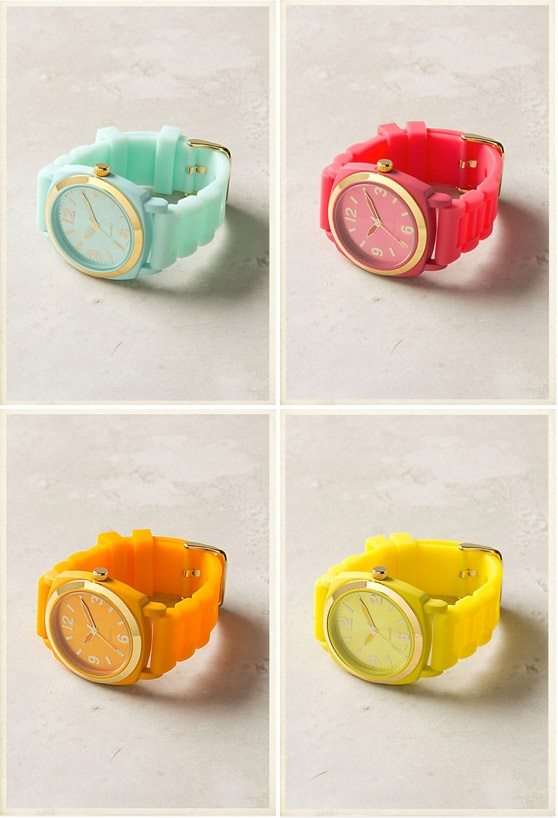 All are $58 from anthro, I want the mint one. http://www.anthropologie.com/anthro/catalog/productdetail.jsp?id=24795999=JEWELRY-BRACELETS=1+Viscid+Watch+&_requestid=189848=pjn=73861
