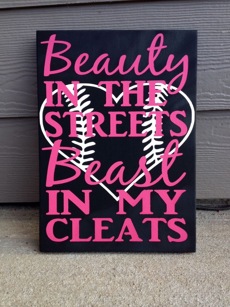 A personal favorite from my Etsy shop https://www.etsy.com/listing/228859299/softball-beauty-in-the-streets-beast-in