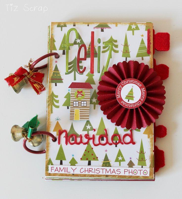 Un mini muy navideño. por Tiz Scrap para www.upandscrap.com