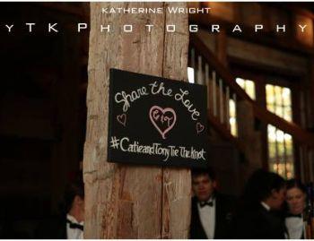 Cute Hashtag Chalkboard Sign.