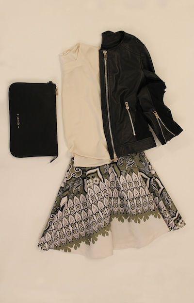 """""""...black e white..."""" giacchina pelle TOY G, gonna TOY G, blusa KOCCA, borsa LIU-JO"""