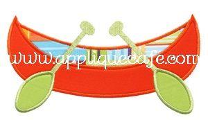 Canoe Applique Design