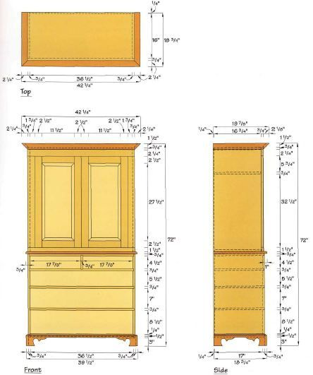 Woodworking plan for Bachlor's Chest. Complete woodworking plans with detail descriptions can be found on my website: www.tedswoodworkplans.com