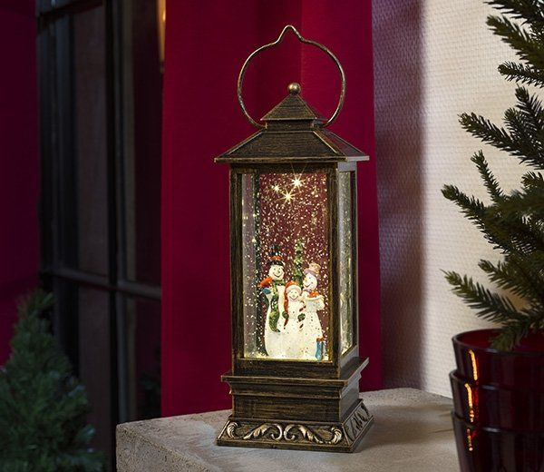 This water filled Lantern with snowman and warm white LED lights by Konstsmide offers a Christmas theme to your home. Why not use the real this gorgeous lantern to add a decorative touch to you Christmas dining table?