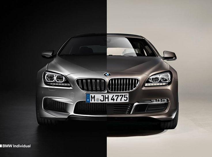 Exclusivity is a matter of perspective.  BMW M6 Gran Coupé in BMW Individual Frozen Silver metallic meets BMW 6 Series Gran Coupé in BMW Individual Frozen Bronze metallic.